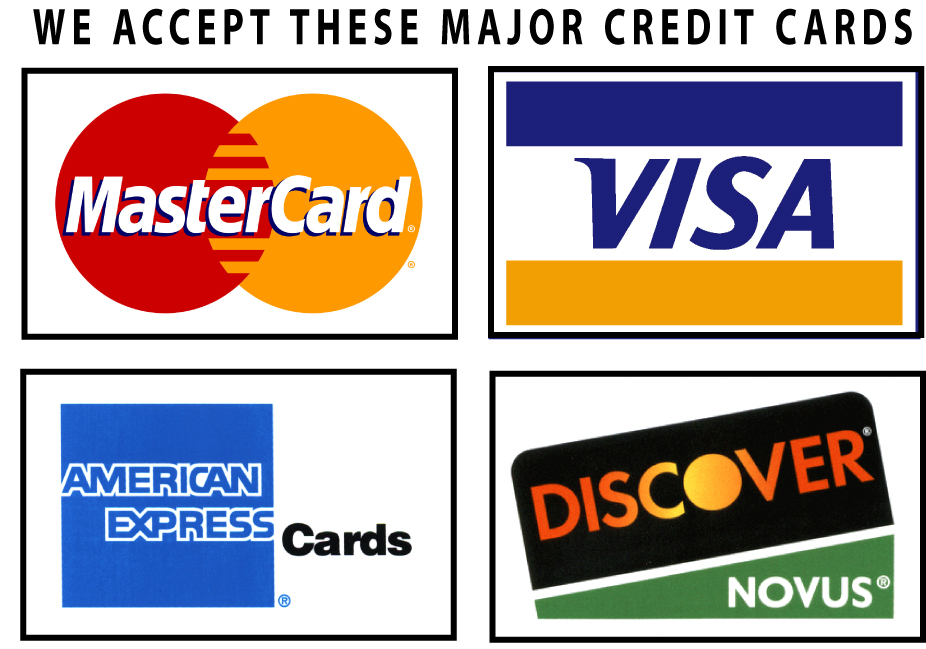 It is a photo of Luscious We Accept Credit Card Signs Printable
